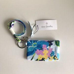 Vera Bradley Marian Floral Zip ID & Lanyard Set